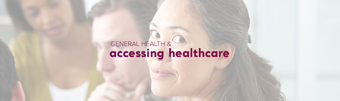 General health & accessing healthcare, mental health, health condition, illness