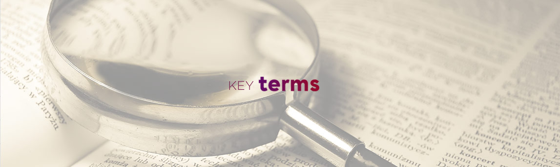 Key Terms banner