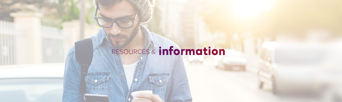 Resources and Information banner