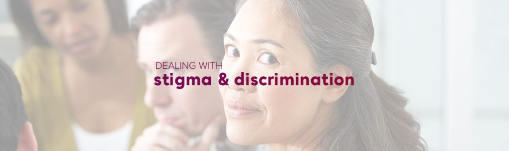 Dealing with stigma & discrimination banner