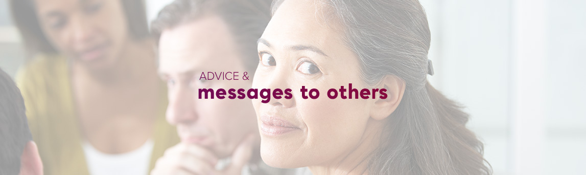 Advice & messages health professionals policymakers, advice consumers family friends